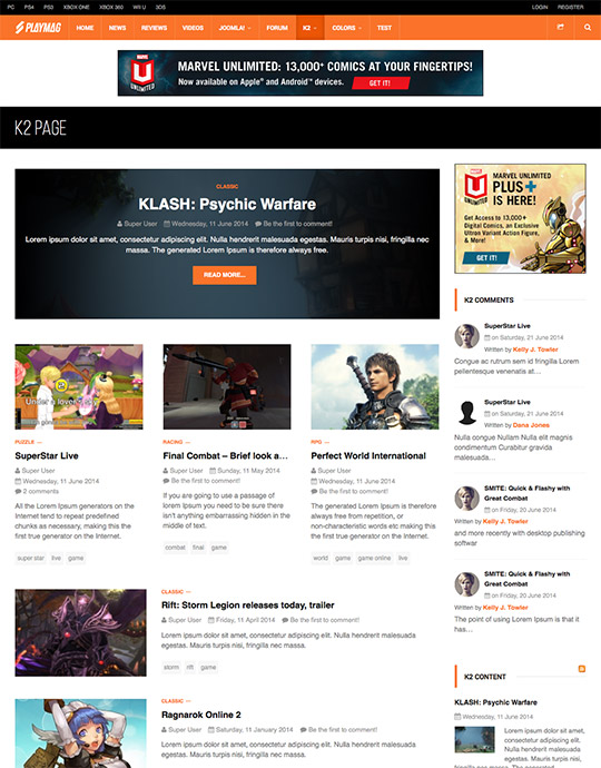 JA Playmag 2 0 0 - Joomla! Share